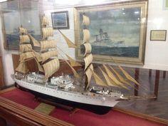 Modelo 1/75 del buque escuela Fragata Libertad en el Museo Naval de Tigre