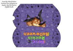 Rockin Halloween Pillow Box on Craftsuprint - Add To Basket!