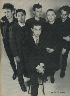 Nick Cave and The bad Seeds Circa 1989 Photo: Leslie Campbell