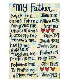This 'My Father' Wrapped Canvas is perfect! #zulilyfinds