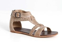 Roan Shoes Posey Braided Sandals in Taupe F990005-275