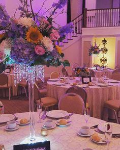 Last night @thecarriagehousenj  #wedding #weddingwire #weddings2016 #carriagehouseweddings #aprilweddings #arrangements #centerpieces #dvflora #delphinium #eucalyptus #flowers #instawedding #knotweddings #loveisinthehair #mylife #mystyle #mayweddings #mybrides #njbrides #njflorist #njweddings #pastels #roses #sunflowers #tallcenterpiece #onruffled by betinas