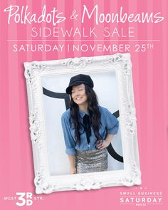 6df09700380 Small Business Saturday - SHOP the sale with us this Saturday! Black Friday  and Small Business Saturday shopping! Polkadots   Moonbeams