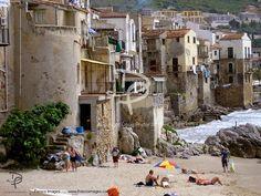 Cefalu Beach in Sicily