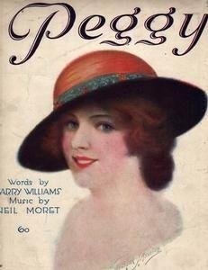 "Vintage sheet music - ""Peggy"", 1919"