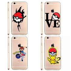 Pokemons Poke Ball Phone Cases Pokemons Go Pokeball Transparent Clear Case Cover for Apple iPhon 5 6 SE Cell Phone Covers, Mobile Phone Cases, Pokemons Go, Pokemon Store, Iphone Price, Kids Zone, Iphone Phone Cases, Apple, Free Shipping