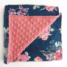Minky Baby Blanket Pink Baby Blanket Girls by TheCrankyPeach