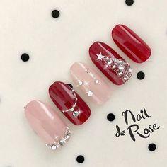 Winter / Christmas / Party / Date / Hand-cocoro M.O nail 's nail design[No. - Hand Nail Design FoR Women Christmas Gel Nails, Christmas Nail Designs, Holiday Nails, Fancy Nails, Cute Nails, Pretty Nails, Nail Manicure, Diy Nails, Japanese Nails