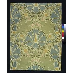 Object: Wallpaper  Place of origin: England, Great Britain (made)  Date: ca. 1897 (made)  Artist/Maker: C. F. A. Voysey, born 1857 - died 1941 (designer)  Essex (manufacturer)  Materials and Techniques: Colour woodblock print, on paper  Credit Line: Given by Morton Sundour Fabrics Ltd.