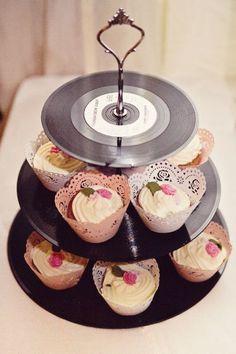 DIY music cupcake tier
