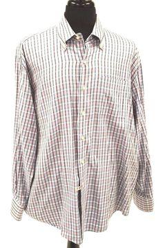 58c99dd449e Peter Millar Shirt XL Tattersall Check Button Down Collar Blue White Pink  Teal  PeterMilar