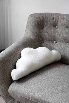 cloud pillow for lil baby j, gonna have to try this once the room is set up.