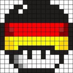 Kandi Patterns, Perler Patterns, Beading Patterns, Perler Bead Mario, Minecraft Pixel Art, Melting Beads, Square Patterns, Cute Crafts, Different Patterns