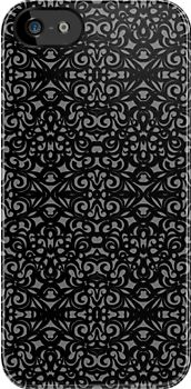 Damask Style Inspiration #iPhone #case #cover #damask #baroque #victorian #floral #dark http://www.redbubble.com/people/medusa81/works/11021729-damask-style-inspiration?p=iphone-case