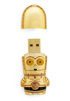 Store Trooper USB Flash Drive in C-3PO - Gold. For my star wars loving friends.