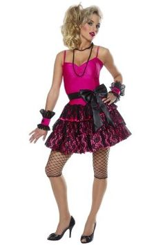 80s Madonna Party Girl Costume (more details at Adults-Halloween-Costume.com) #madonna #halloween #costumes