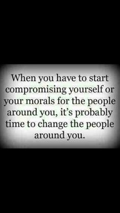 Yes, indeed. I'm not about that dramatic, conniving, bullshit. I respect myself and morals too much to drop down to a lower level.