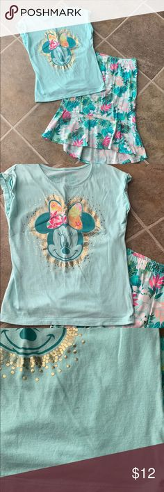 JUMPING BEANS GIRLS SLEEVELESS TUNIC T-SHIRT SZ.6,6X,7 SEA YOU AT THE BEACH PINK