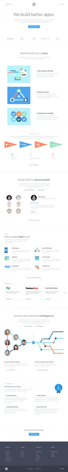 Gigster (More web design inspiration at topdesigninspiration.com) #design #web #webdesign #sitedesign #responsive #ux #ui