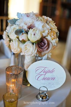 Gorgeous Centerpiece! Soft Florals...  BENDORA WEDDING GALLERY BLOG