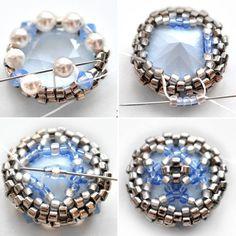 Sv Beads Beaded Jewelry Patterns, Beading Patterns, Embroidery Patterns, Beading Projects, Beading Tutorials, Bead Crochet, Bead Weaving, A3, Beadwork