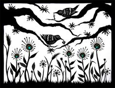 Finding Gifts in the Garden - Cut Paper Art by ruralpearl, via Flickr