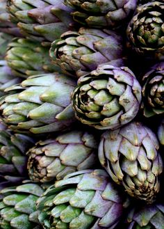 I love peeling the leaves off steamed artichokes and dipping them in vinaigrette.