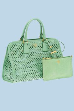 green prada handbags