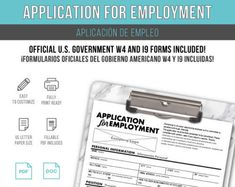 Job Application Template Hr Paperwork And Tools Home  Living