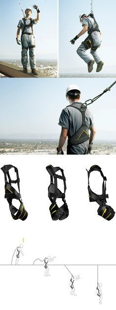 """Only the brave take to high heights for a variety of reasons and a good, reliable harness goes a long way to inspire that bravery! While the harness can save a life by preventing a fall, the problem of """"suspension trauma"""" still exists. Read Full Story at Yanko Design"""