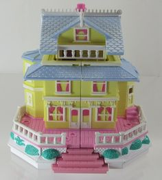 1995 Polly Pocket Vintage Clubhouse Victorian Dollhouse Bluebird Toys