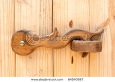 Wood Door Latch Stock Photo, Picture And Royalty Free Image.- Wood Door Latch Stock Photo, Picture And Royalty Free Image. Image – Wood Door Latch Stock Photo, Picture And Royalty Free Image. Wooden Hinges, Wooden Doors, Wooden Barn, Metal Barn, Into The Woods, Diy Holz, Wood Working For Beginners, Woodworking Tips, Woodworking Inspiration