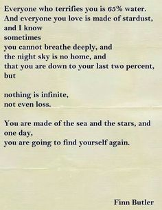 We are made of the sea and stars.