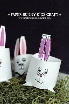 DIY Paper Bunny Kids