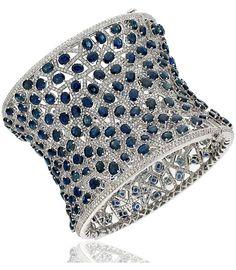 Bracelets Ideas : Sapphire and Diamond Bracelet by Avakian Gems Jewelry, High Jewelry, I Love Jewelry, Diamond Bracelets, Bangle Bracelets, Bangles, Silver Bracelets, Sapphire Jewelry, Sapphire Diamond