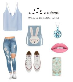 """""""totwoo"""" by nan04-11 ❤ liked on Polyvore featuring MANGO, Converse and Casetify"""