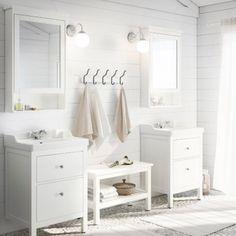 HEMNES BATHROOM SERIES; A traditional approach to a tidy bathroom.
