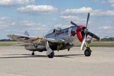 Cleared for Landing on 22R (retrowar:   P-47)