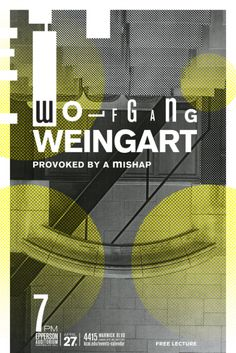 Patrick Drake – Wolfgang Weingart current perspective lecture series poster