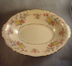 "Syracuse Briarcliff, Federal Shape Oval Veggie Serving Bowl, 10-5/8"". $9.99 at raisakylie on ebay, 7/17/16"