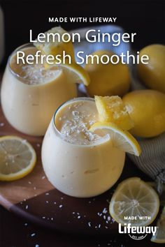It's a cleansing elixir with ingredients that may help support a healthy immune and digestive system. (BONUS: it tastes like lemon meringue pie!) Healthy Detox, Healthy Smoothies, Smoothie Recipes, Lemon Detox Cleanse, Water Recipes, Detox Drinks, Original Recipe, Mousse, Food And Drink