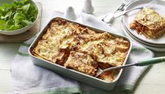 Roast sweet potato, peppers, courgette and spinach combine with an all-in-one cheese sauce to make this easy veggie lasagne. Lasagne Dish, Vegetable Lasagne, Lasagne Recipes, Potato Vegetable, Vegetable Puree, Veggie Lasagna, Vegetarian Recipes, Vegetarian Lasagne, Savoury Recipes