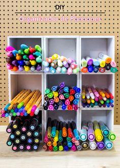 Organizador de plumones DIY | HiIAmSayilHiIAmSayil