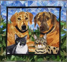 Cassidy, Chase, Mashatu, and JasPurr, 31 x 34, by Nancy S. Brown (California)…
