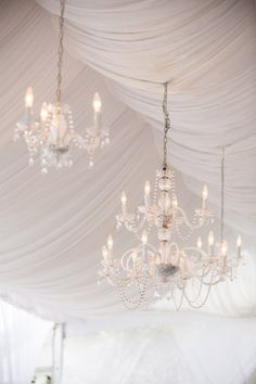 draped tent with #chandeliers Photography by theomilophotography.com  Read more - http://www.stylemepretty.com/2013/09/13/bald-head-island-wedding-from-theo-milo-photography-2/