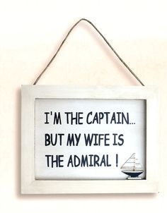 Looking for a Fun Nautical Wall Hanging? Wife is the Admiral is a queen of signs from Nautical Decor Store packed well since Nautical Signs, Nautical Theme, My Wife Is, Beach Signs, Queen, Beach Themes, Wall Plaques, Three Dimensional, Wooden Signs