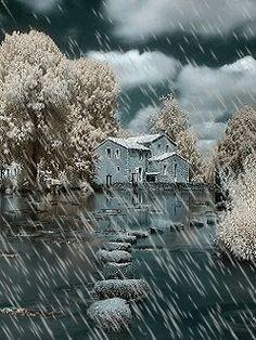Animated wallpaper, screensaver 240x320 for cellphone   Rain, Rain ...