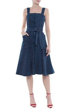 Cute fashion outfits ideas – Fashion, Home decorating Demin Dress, Gingham Dress, Striped Dress, Simple Dresses, Casual Dresses, Fashion Dresses, Best Prom Dresses, Summer Dresses, Hijab Fashionista