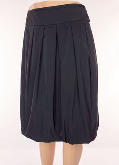 LIDA BADAY Skirt Size 6 S Small Black A Line Pleated Wear To Work Career #LidaBaday #ALine