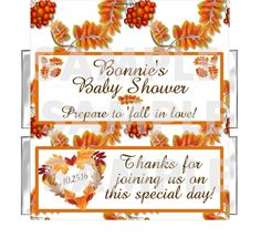 Beautiful Fall Leaves Baby Shower Favor! Perfect final touch for the fall baby shower!